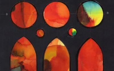 Vila i Grau exposa les aquarel·les utilitzades per crear els vitralls/ Sala Parés