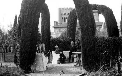 Els jardins del Castell de Can Feu, tal com eren al segle XIX/ Associació Cultural Can Feu