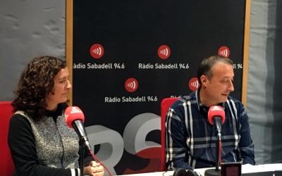 Reyes i Garcia, als estudis de Ràdio Sabadell/ Raquel Garcia