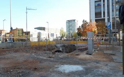 Estat actual de les obres de l'estació de Sabadell Centre. | Foto: Karen Madrid