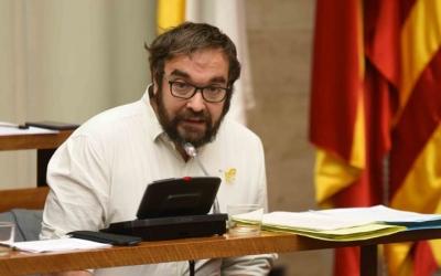 Juli Ferández, durant la presentacio del Pla estratègic de Subvencions/ Roger Benet