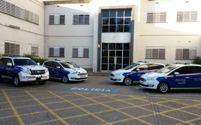 Els vehicles el dia que es van presentar | Policia Municipal de Sabadell