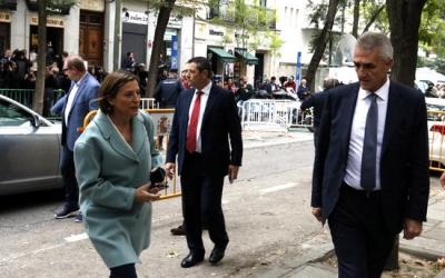 Carme Forcadell, arribant al Tribunal Suprem/ ACN