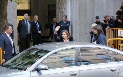 La presidenta del Parlament, Carme Forcadell, en el moment de la seva arribada al Tribunal Suprem | ACN