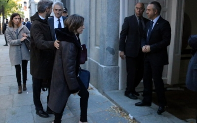 La presidenta del Parlament, Carme Forcadell, entrant a l'edifici del Tribunal Suprem | ACN
