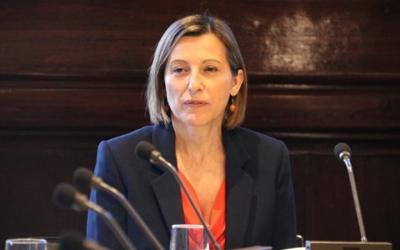 Carme Forcadell presidint la diputació permanent del Parlament de Catalunya.