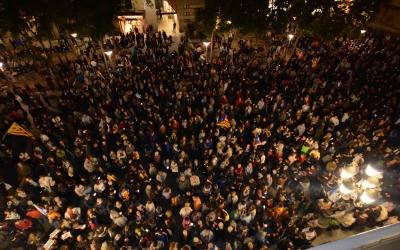 Plaça Sant Roc durant la concentració. Foto: Roger Benet