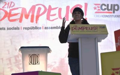 Anna Gabriel a l'acte central de la CUP a Sabadell | Roger Benet