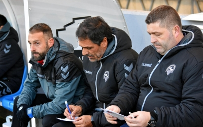 Toni Seligrat ahir a Lleida entre Joma Ferrer i Cristian Lanzarote | Críspulo Díaz