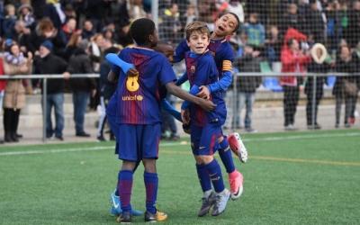 Alegria blaugrana en un dels tres gols de la final | Roger Benet