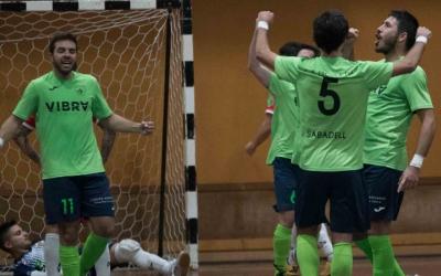 Els jugadors de la Pia celebren un gol aquesta temporada