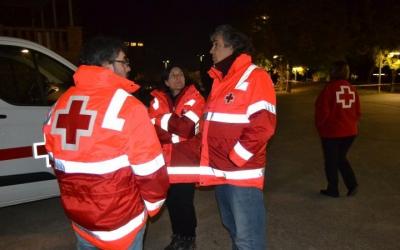 Imatge d'alguns dels efectius de l'Operació Fred/ Creu Roja Sabadell