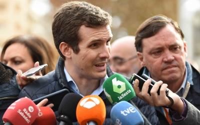 Pablo Casado en l'acte del PP a Sabadell | Roger Benet