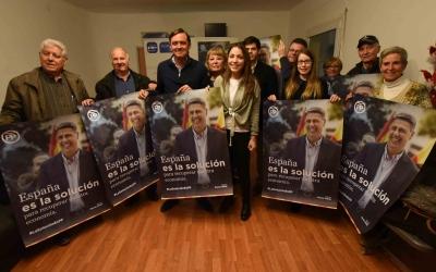 Imatge de la seu dels populars durant la presentació de la campanya del 21-D| Foto: Roger Benet