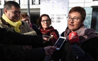 La número 4 de la llista, Marta Ribas, al costat del regidor de Salut, Ramon Vidal. Foto: Roger Benet