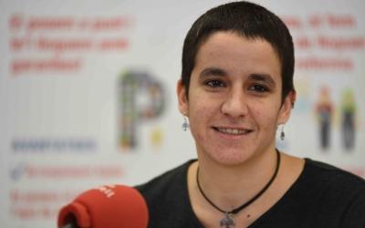 Glòria Rubio, regidora d'Habitatge durant la Roda de premsa. | Foto: Roger Benet