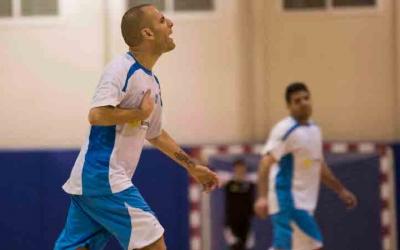 Dani Salgado celebrant un gol amb la samarreta del Natació Sabadell | Roger Benet
