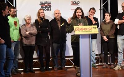 Míriam Ferràndiz ha presentat el suport de la Crida a la CUP per a les eleccions del 21D. Foto: Roger Benet