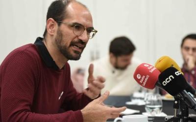 L'alcalde, Maties Serracant, en el balanç de l'acció de govern d'aquest any. Foto: Roger Benet