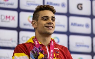 Óscar Salguero al podi dels Mundials de Mèxic | @LaLiga4Sports