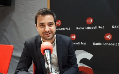Pol Gibert, als estudis de Ràdio Sabadell/ Serveis Informatius