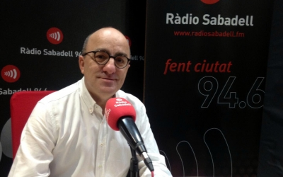 Escartín, als estudis de Ràdio Sabadell/ Raquel Garcia