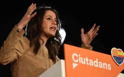 Arrimadas durant l'acte de campanya a la Fira Sabadell. | Foto: Roger Benet