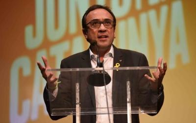 Imatge de Rull durant el discurs. | Foto: Roger Benet