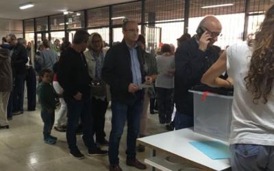 Imatge de l'última votació celebrada a Sabadell, durant el referèndum de l'1 d'octubre.