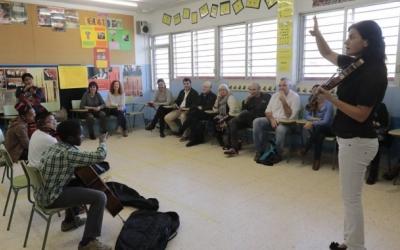 Imatge d'una de les classes de l'A-cordant/ Arxiu Ràdio Sabadell