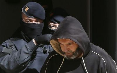 Antonio Sáez Martínez, en el moment de la detenció/ EFE