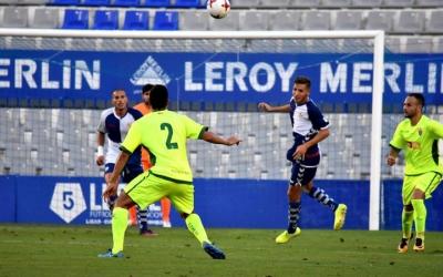 Marc Martínez en el partit contra l'Elche de la primera volta disputat a la Nova Creu Alta | Críspulo Díaz
