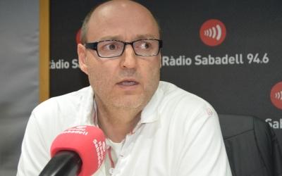 Antoni Reguant, als estudis de Ràdio Sabadell | Arxiu RS