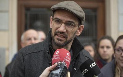 Maties Serracant ha anunciat l'arxivament del cas de El Tallaret avui, davant dels mitjans/ Roger Benet