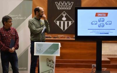 Maties Serracant i Lluís Perarnau a la roda de premsa d'aquest matí  | Foto: Roger Benet