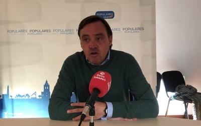 Esteban Gesa durant la roda de premsa. | Foto: Ràdio Sabadell