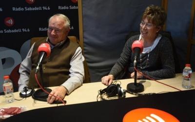 Ernest Llenas i Montserrat Avellaneda als estudis de Ràdio Sabadell | Roger Benet