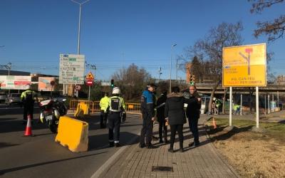 L'accés al passeig Can Feu des de la plaça del Mil·lenari estarà tancat durant 17 mesos.