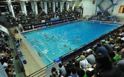 Imatge del partit de dissabte a la piscina del Pro Recco