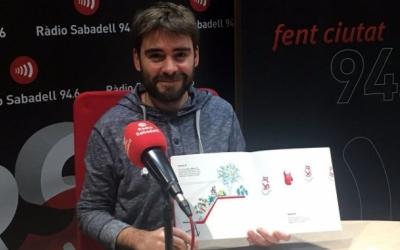 David Vila als estudis de Ràdio Sabadell   Foto: Raquel Garcia