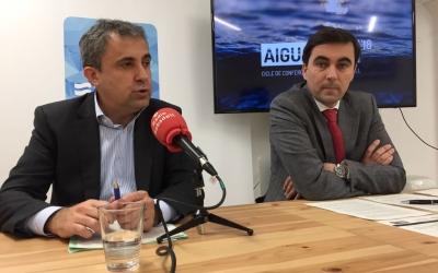 Joan Cristià, director d'Aigües de Sabadell i Enric Blasco, president Foto: Ràdio Sabadell