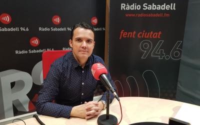 David Baró als estudis de Ràdio Sabadell | Foto: Clàudia Martínez