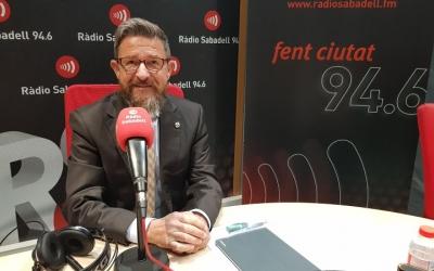 Manuel Hernández, degà del Col·legi d'Advocats de Sabadell, als estudis de Ràdio Sabadell.