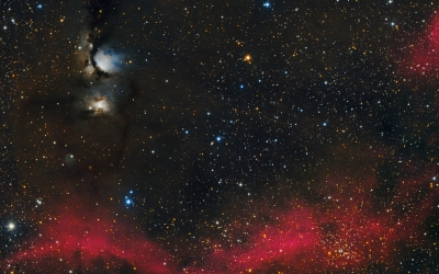 Una fotografía del camp d'M78 de la constel·lació d'Orió feta des d'Àger en sesiones presencial y remotes | Manel Martín