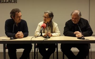 El moment en que s'ha anunciat el premi a la roda de premsa | Pau Duran