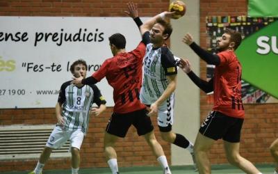 Bernat Correro en un dels 11 gols que va marcar