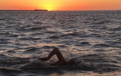 Damián Blaum creuant el Río de la Plata | Damián Blaum