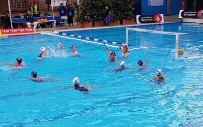 Imatge del partit d'aquesta tarda a la piscina Josep Vallès