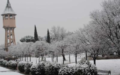 Sabadell en una de les darreres nevades | Arxiu