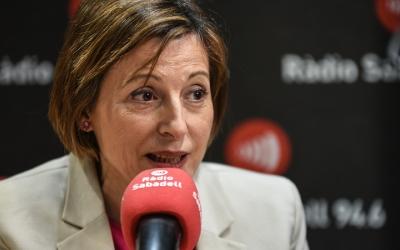 Carme Forcadell ha passat pel programa Al Matí de Ràdio Sabadell/ Roger Benet